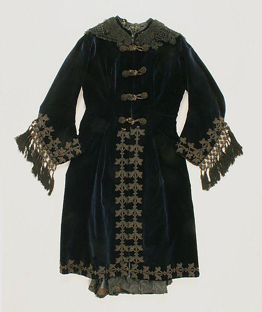 Robe A La Polonaise: Robe à La Polonaise (front View) Date: Ca. 1872 Culture