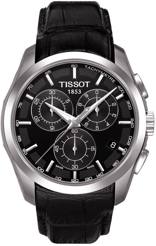 9653796c1d8 Tissot T-Trend Couturier Black Dial Chronograph Mens Watch  men  watches