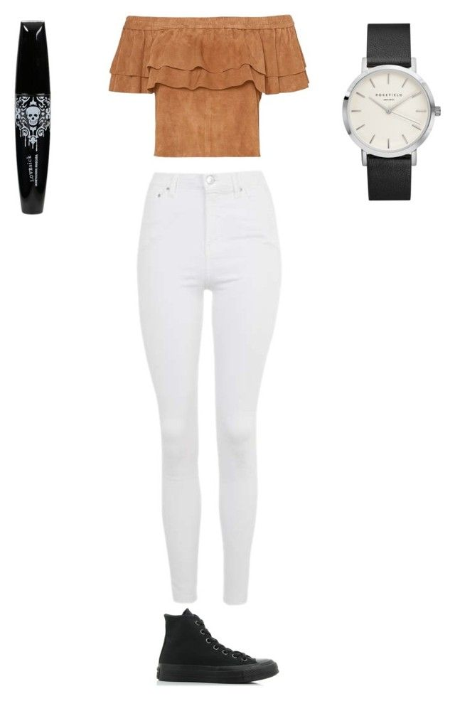 """""""Sans titre #6184"""" by ghilini-l-roquecoquille ❤ liked on Polyvore featuring Topshop and Converse"""