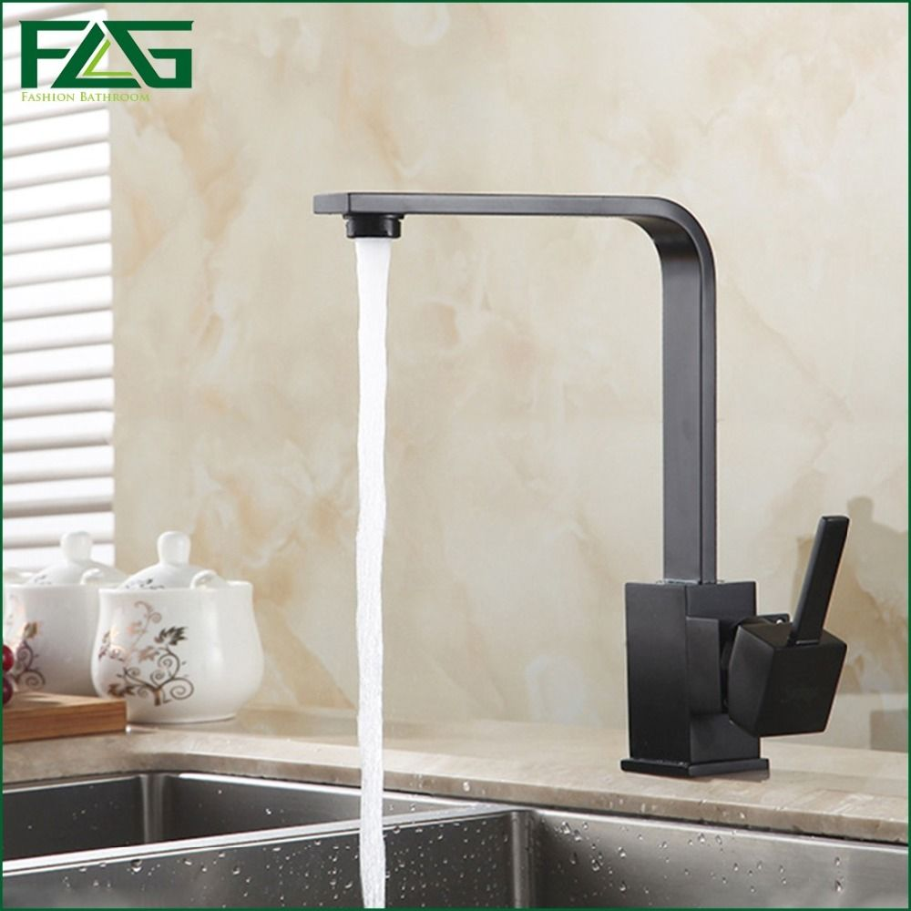 and faucet water black mounted deck cold pin hot rotating sale degree square kitchen tap