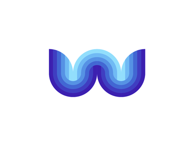 W Water Waves Letter Mark Logo Design Symbol Pinterest