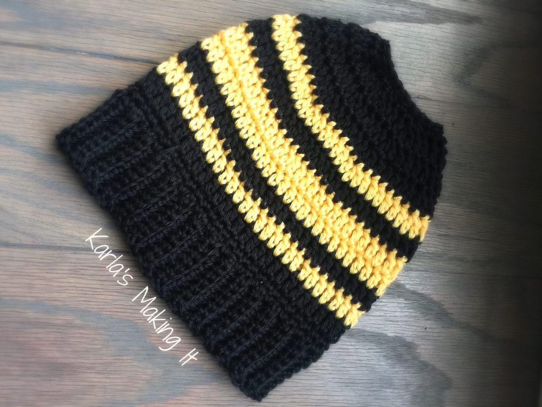 Free Messy Bun Hat Crochet Pattern (Ponytail Hat) from Karla's Making It #Redheart Unforgettable #CaronSimplySoft. #messybunhat Free Messy Bun Hat Crochet Pattern (Ponytail Hat) from Karla's Making It #Redheart Unforgettable #CaronSimplySoft. – Karla's Making It #messybunhat