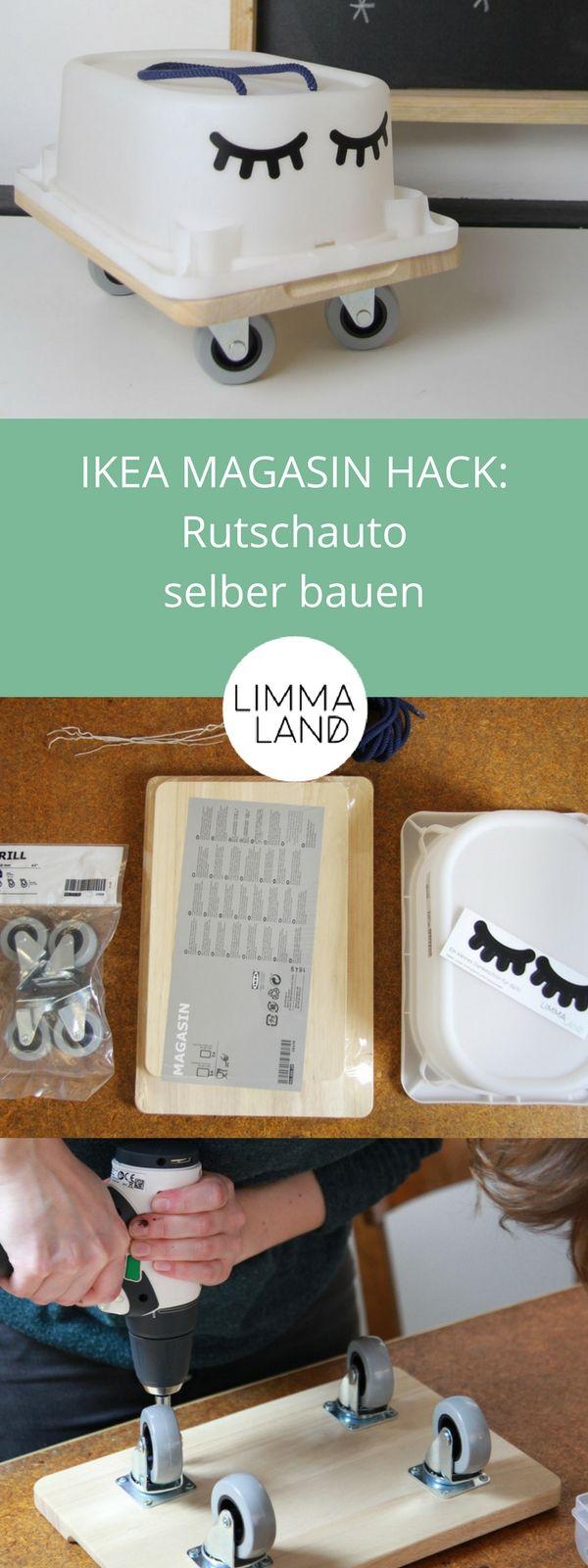 Rutschauto selber bauen für Kinder | DIY - Ikea hacks | Pinterest ...