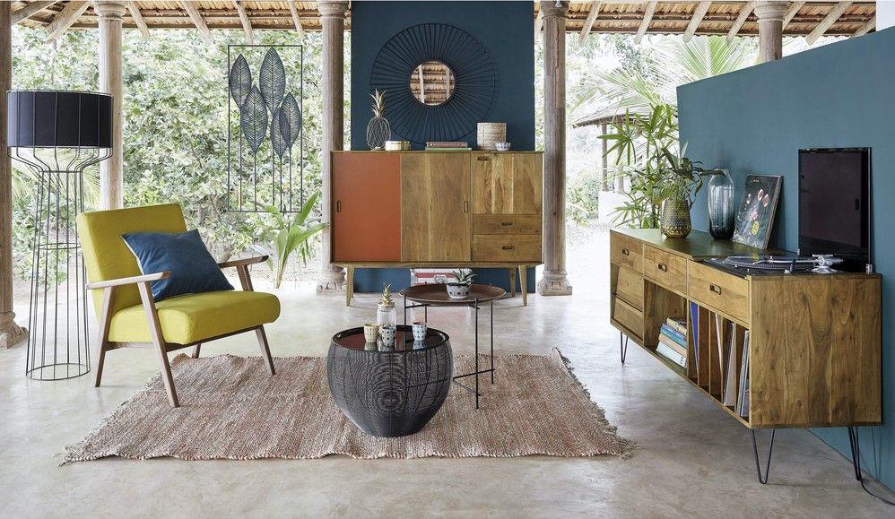 Buffet meuble à vinyles Gimmick en acacia massif - Maisons du Monde