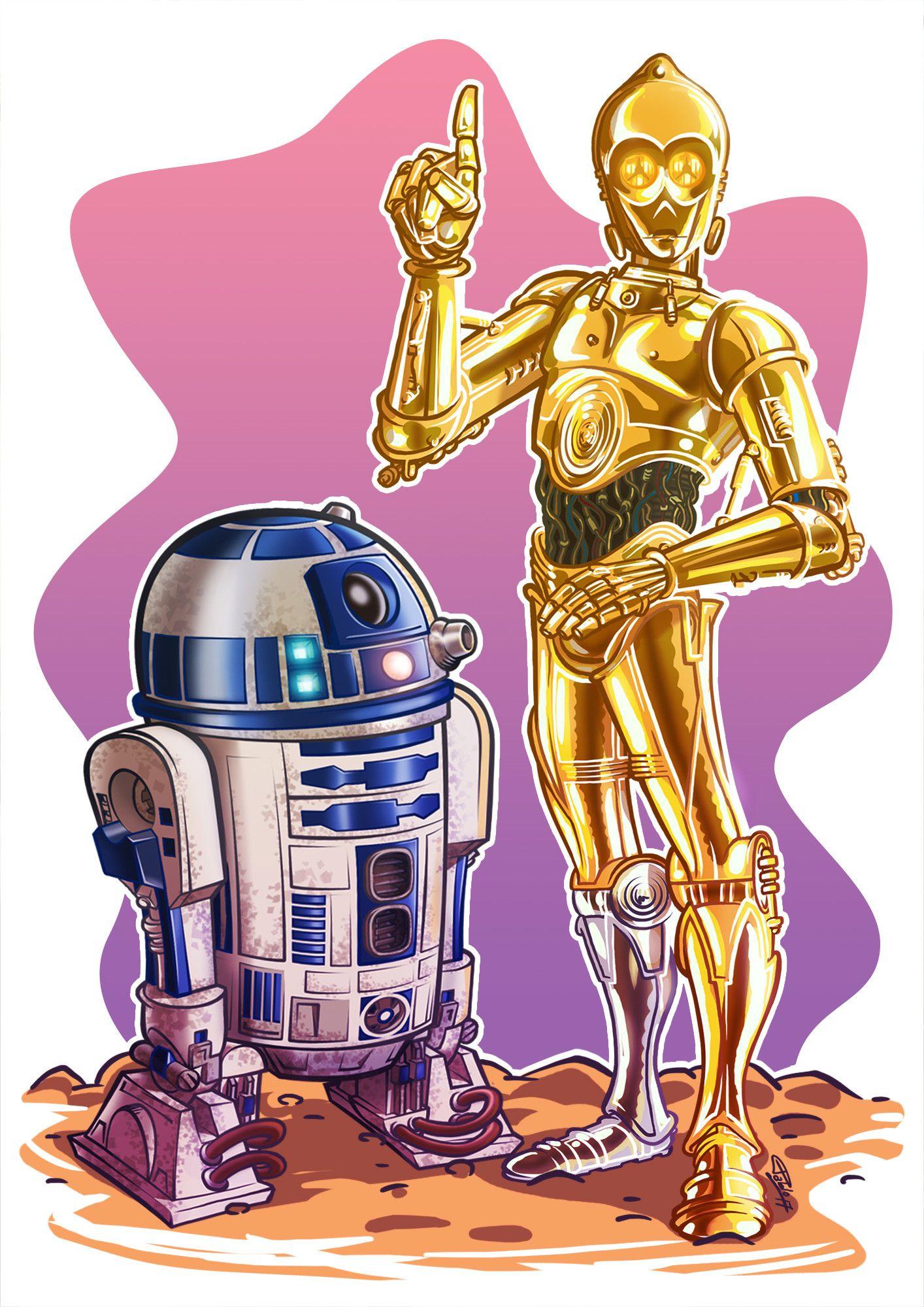 R2d2 And C3po Pablo Andreetta Star Wars Fan Art Star Wars Collectors Star Wars Characters