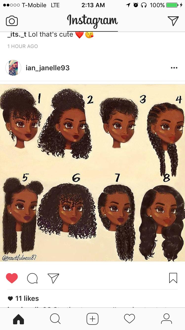 Pin By Royaltyanaa On Hair Major Hair Styles Black Curly Hair Cartoon Hair Curly Hair Styles Black Curly Hair