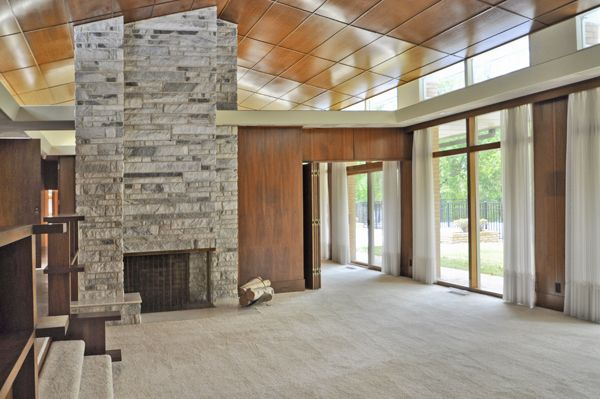 Two custom mid century modern homes were built shortly for Century custom homes