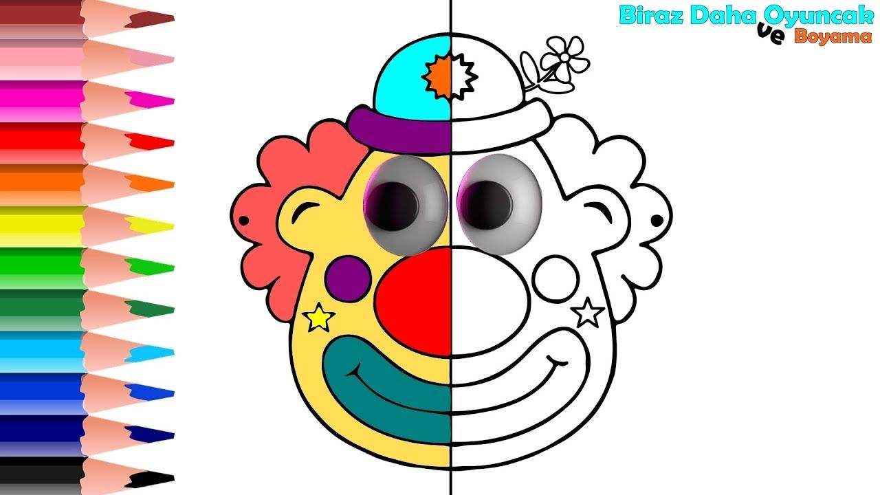 Palyaco Boyama Sayfasi Cocuklar Icin Renkleri Ogrenin Learning Colors Coloring Pages For Kids Kids Learning