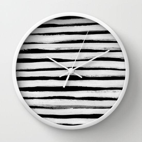 Black and White Stripes II Wall Clock