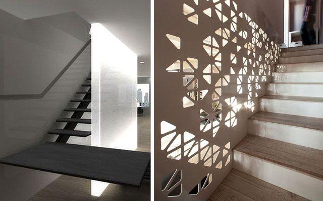 Ideas para decorar escaleras con luz Decoración del hogar