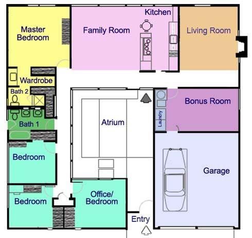 The Eichler Atrium Home A Mid Century Classic Palo Alto Area Real Estate Insider Blog Atrium House Courtyard House Plans House Floor Plans