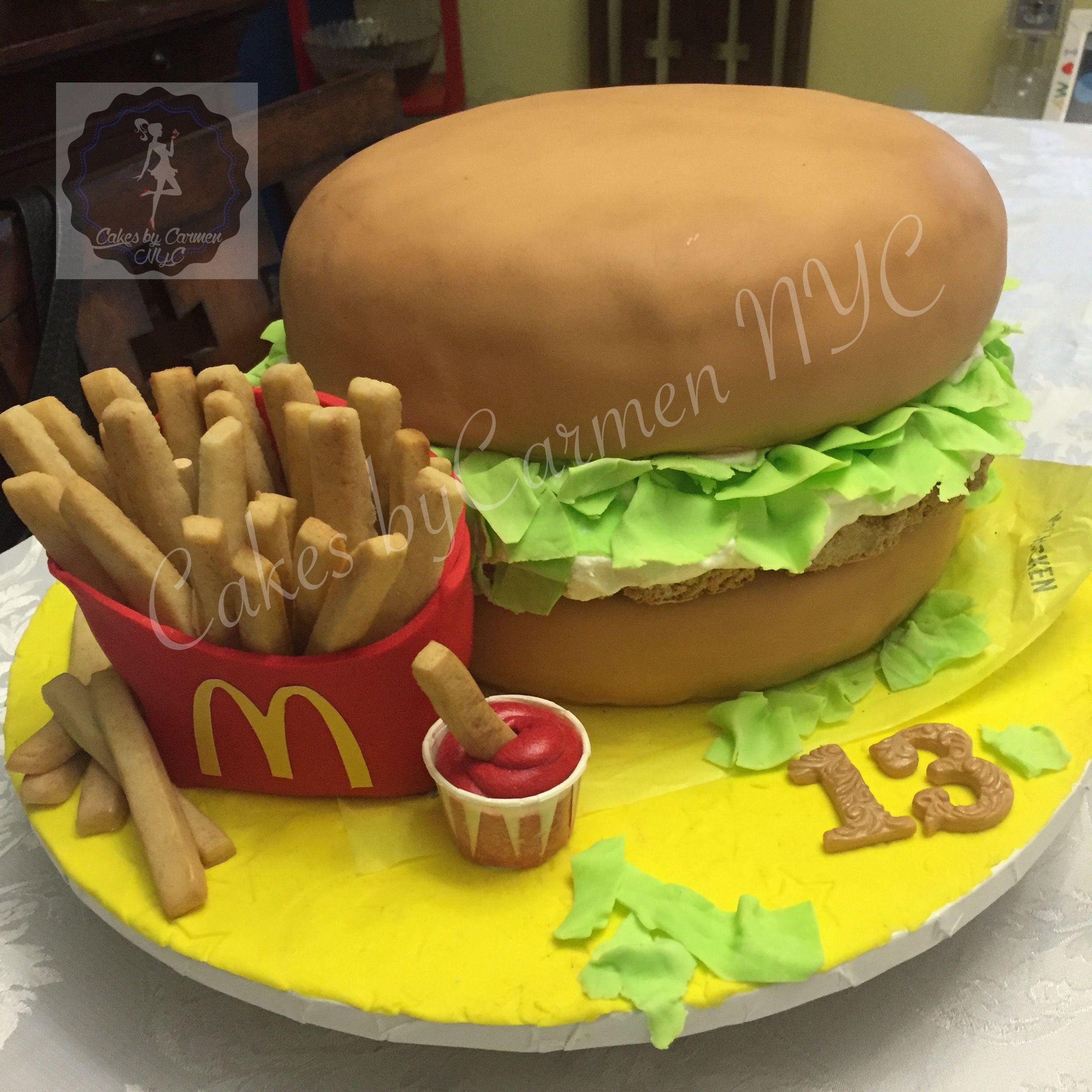Mcdonalds Mcchicken Inspired Birthday Cake Entirely Edible This