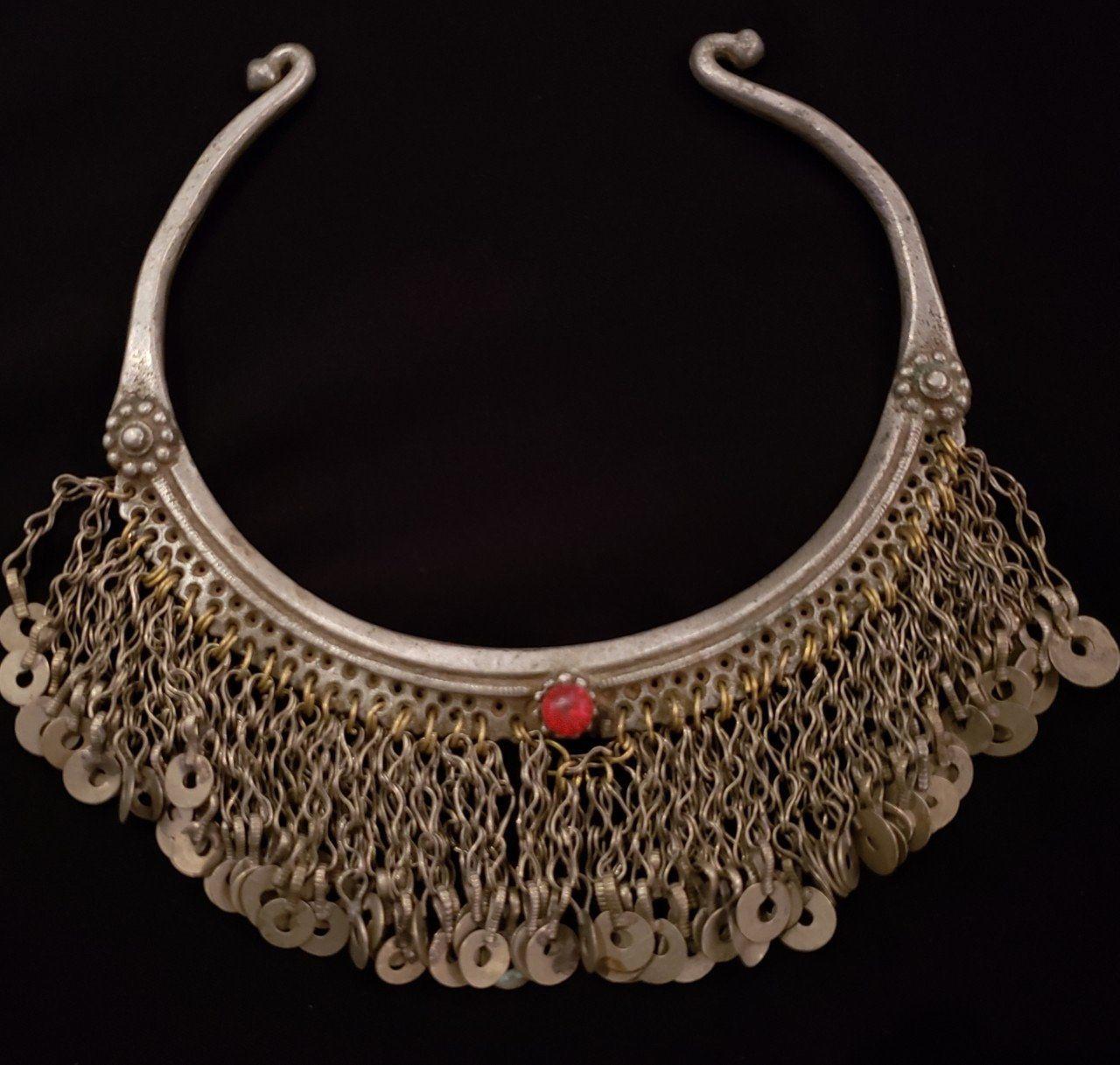 Kuchi Torque-Kuchi Jewellery Exotic Kuchi Necklace-antique Torque-collectible necklace-Billy Dance Middle Eastern Neck Piece-Vintage