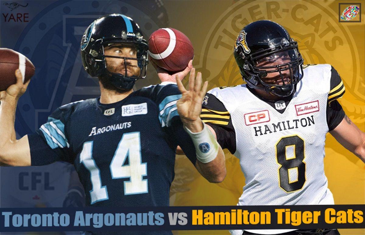 CFL Live Hamilton TigerCats vs Toronto Argonauts CFL