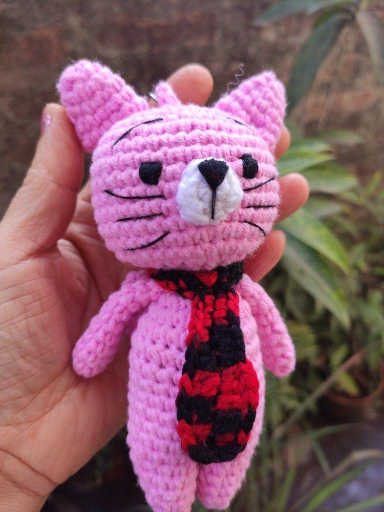 Grumpy Cat amigurumi CROCHET PATTERN for keychain | Etsy | 1000x750