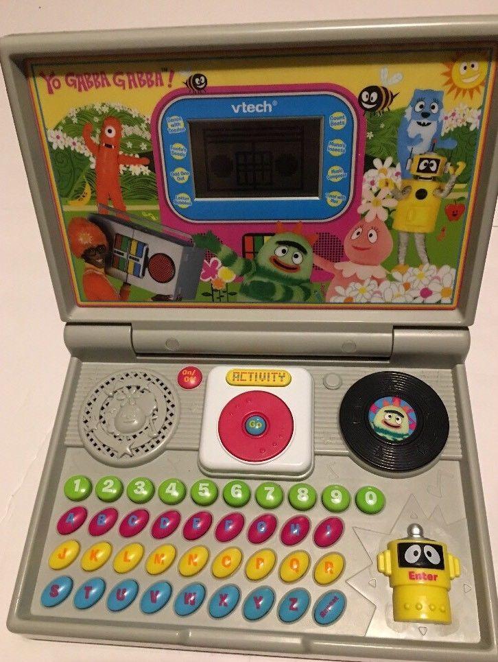 Yo Gabba Gabba Vtech Kids Learning Play Computer 2009.RARE