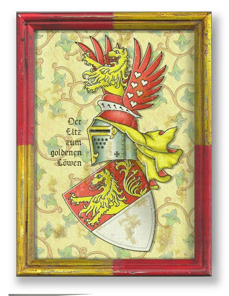 Der Eltz Vom Goldenen Lowen Wappen Eltville Burg Kuhlseggen Schloss Wahn Koln Sammeln Seltenes Memorabilia Adel Kon Wappen Familienwappen Goldener Lowe