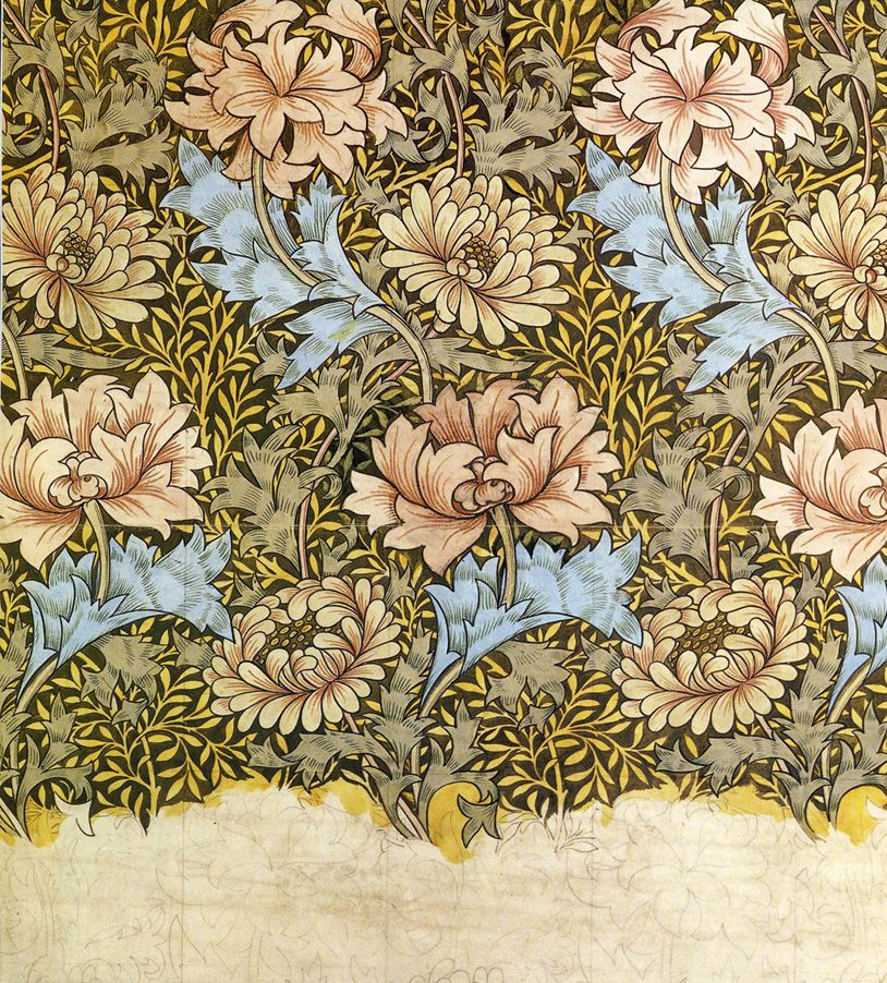 39 chrysanthemum 39 wallpaper design by william morris. Black Bedroom Furniture Sets. Home Design Ideas