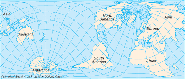 A true perspective of the size of the earth through a cylindrical a true perspective of the size of the earth through a cylindrical equal area projection country mapsunexplained gumiabroncs Choice Image