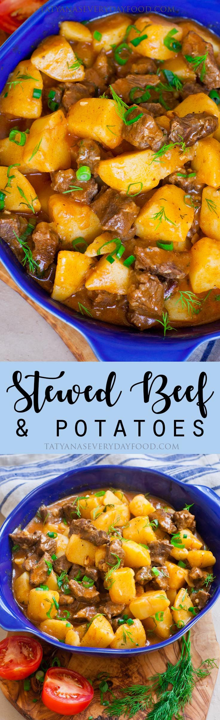 Ukrainian Stewed Beef Potatoes Recipe Video Tatyanas Everyday Food Recipe Beef And Potatoes Tatyana S Everyday Food Beef Recipes