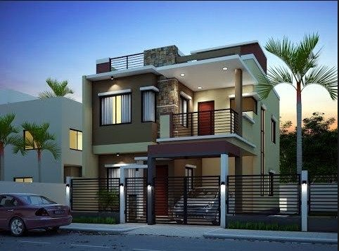 new house exterior design | 2 storey house design, House ... on Modern House Painting Ideas  id=23116