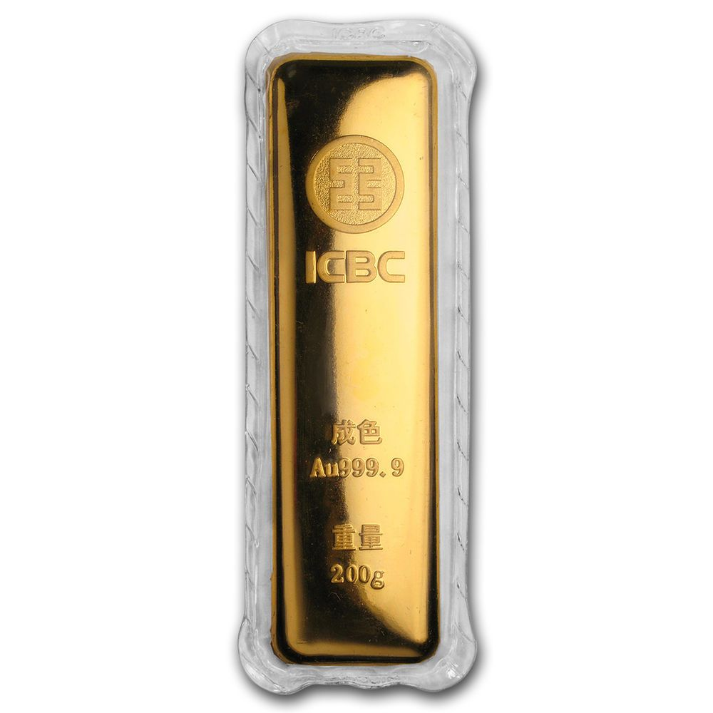 200 Gram Gold Bar Industrial And Commercial Bank Of China Sku 166421 Gold Goldbar Gold Bars For Sale Gold Bar Gold
