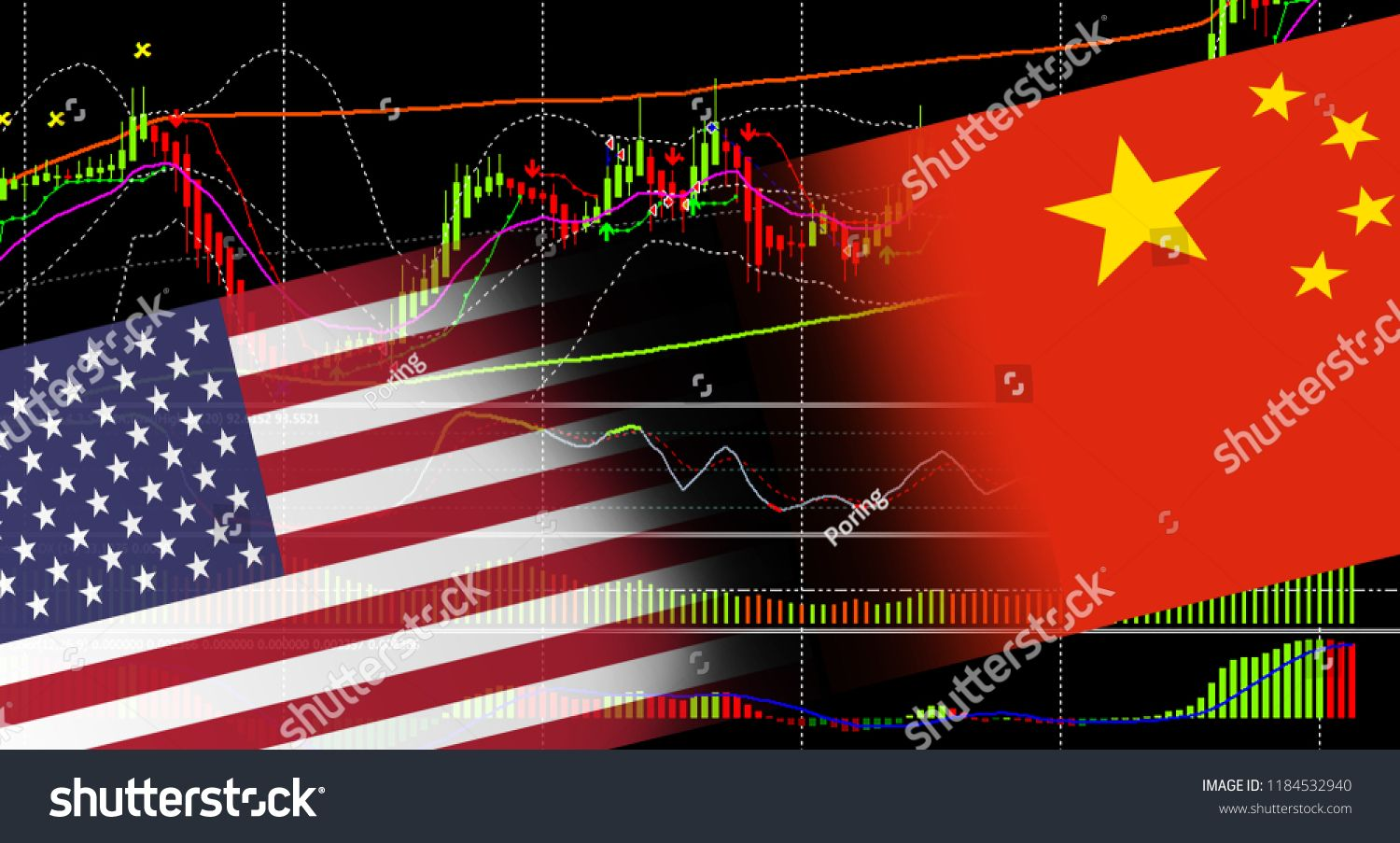 Financial Stock Market Graph Chart Of Investment Trading Screen Trading On The Currency Market Forex Investmen Stock Market Graph Chart Investment China Flag