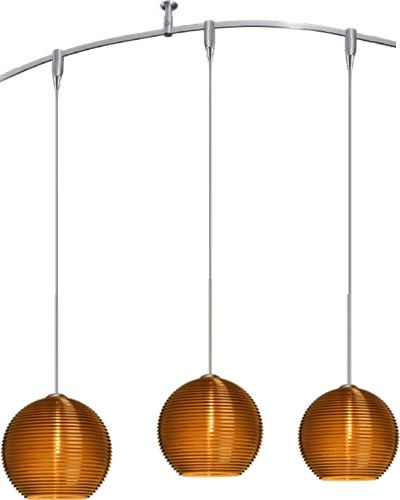 Besa lighting rxp 4615 kristall mini pendants in satin nickel with besa lighting kristall mini pendants in satin nickel with trans amber glass for monorail single or multiple pendant or spotlight fixture besa monorail aloadofball Image collections
