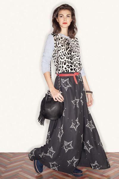 Falda larga estrellada by Uma