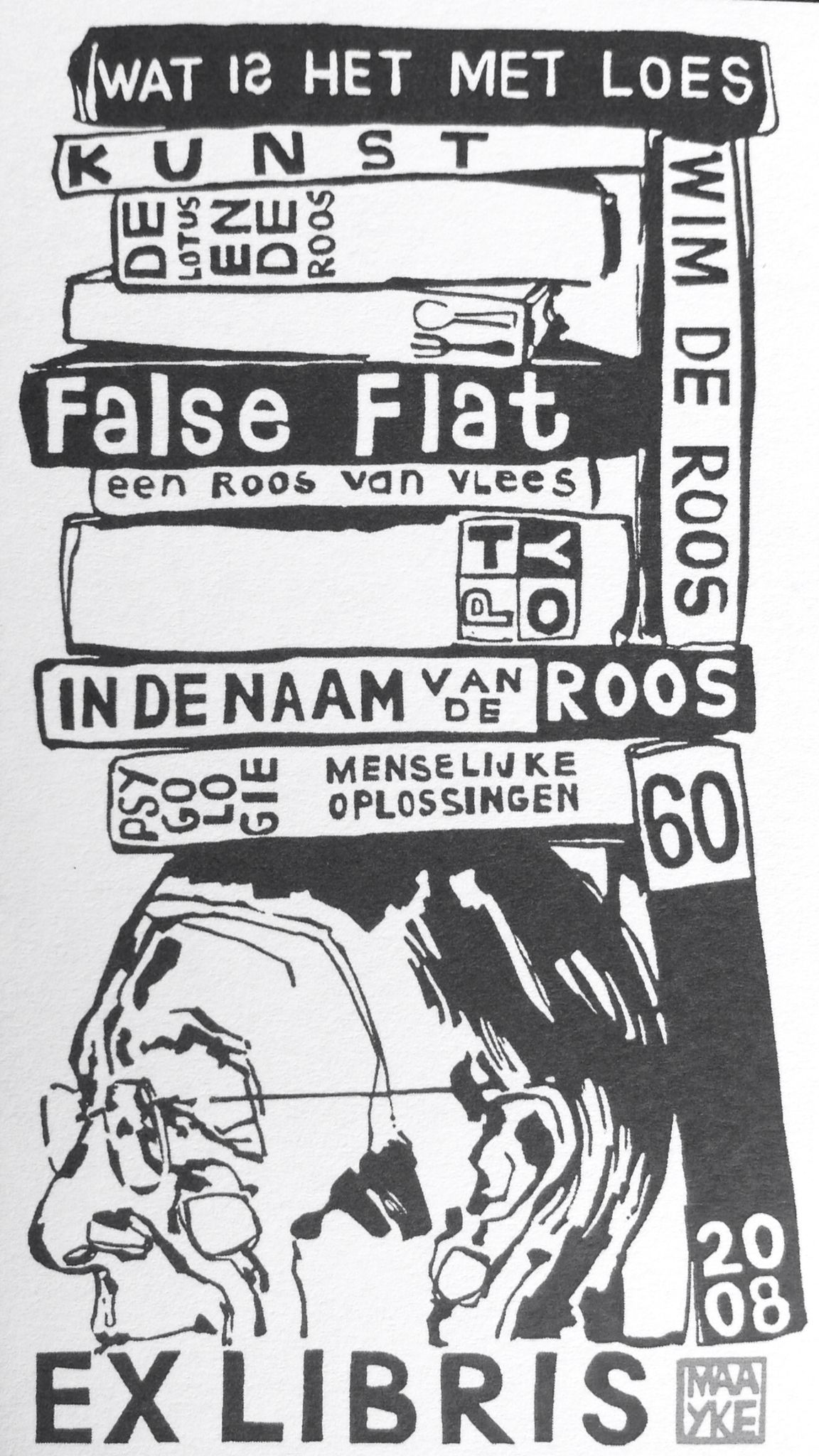 Ex Libris Van Wim De Roos Wassenaar Nl C Artwork