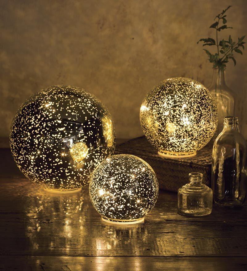Golden Ball Lights Set Of 3