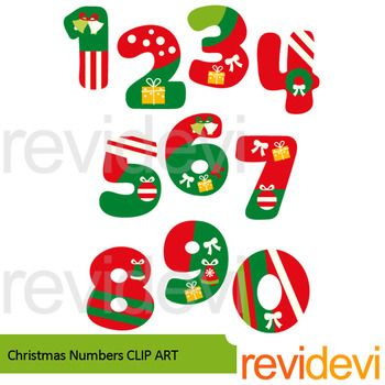 Christmas Numbers Clip Art Number 1 2 3 4 5 6 7 8 9 And Also 0 A Complete Collection For Any Christmas C Christmas Alphabet Christmas Magic Christmas Crafts