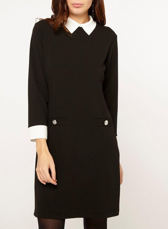 Black Collar Shift Dress Voir Tous Les Promos Promos Dorothy Perkins France Fashion Clothes Mini Shift Dress [ 1360 x 1000 Pixel ]
