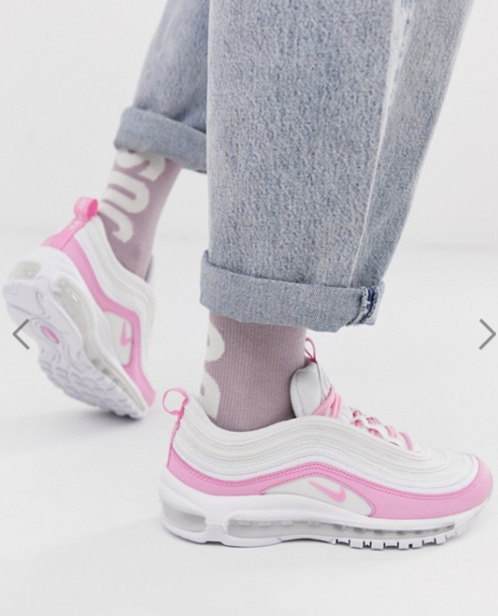 Nike White And Pink Air Max 97 trainers w 2019 | All