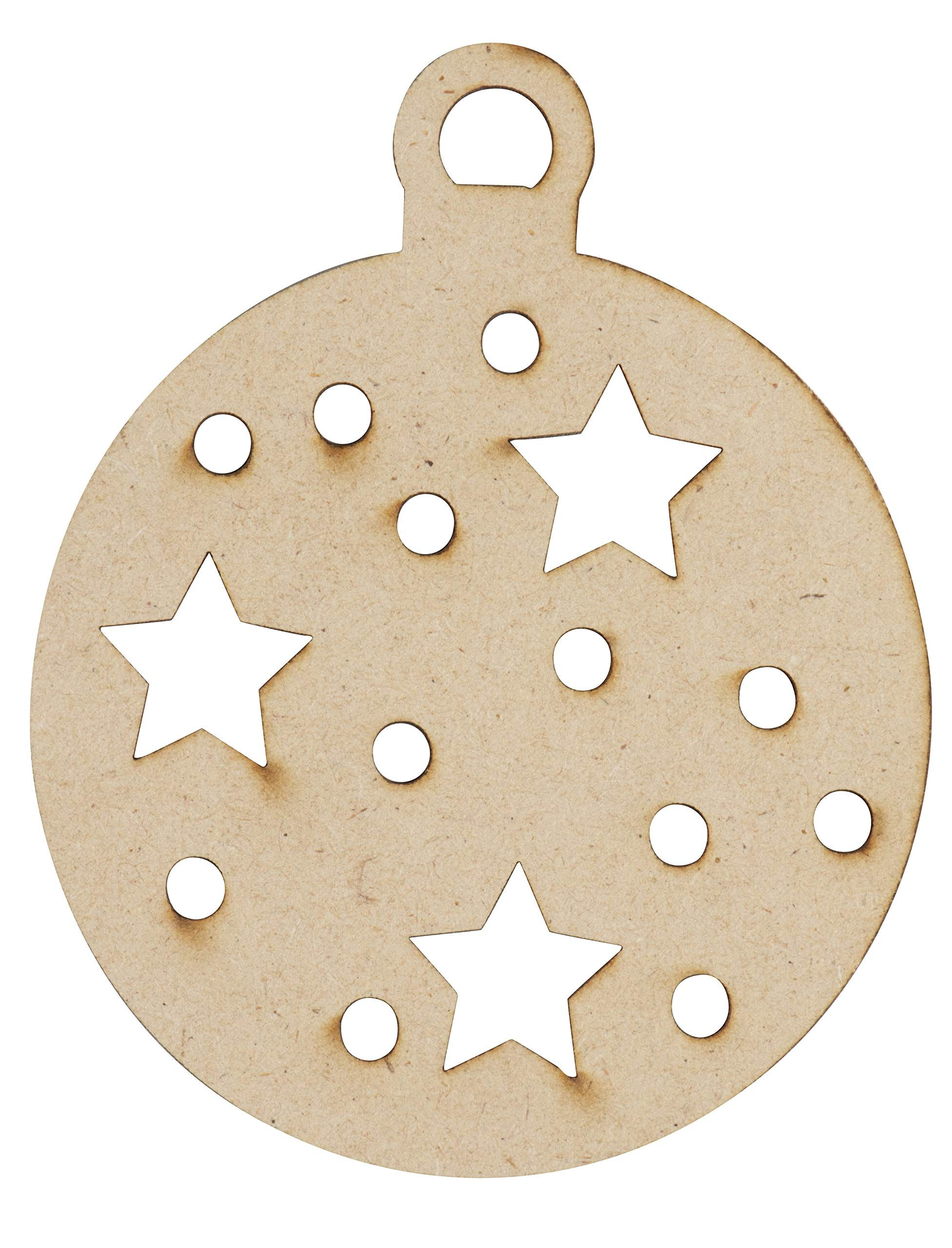 Unfinished Wooden Christmas Ornaments 24pack Paintable Blank Xmas Tree Hanging Wood Slices For Kid Wooden Christmas Ornaments Diy Kids Art Christmas Ornaments