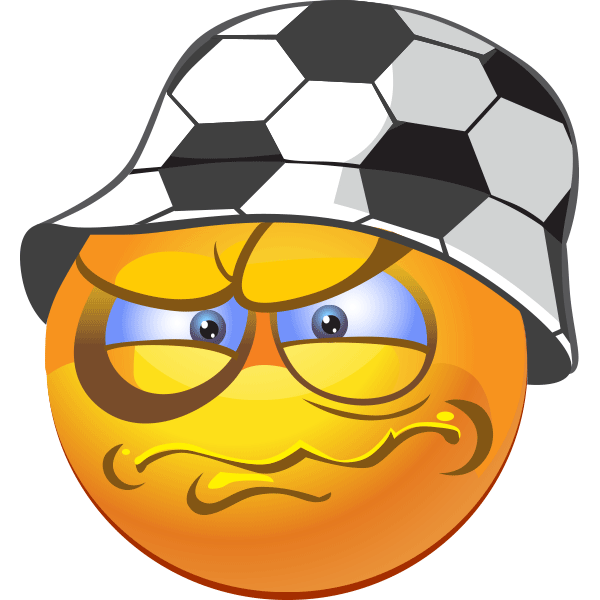 This soccer fan has just endured an almost-unbearable situation--his favorite team lost.