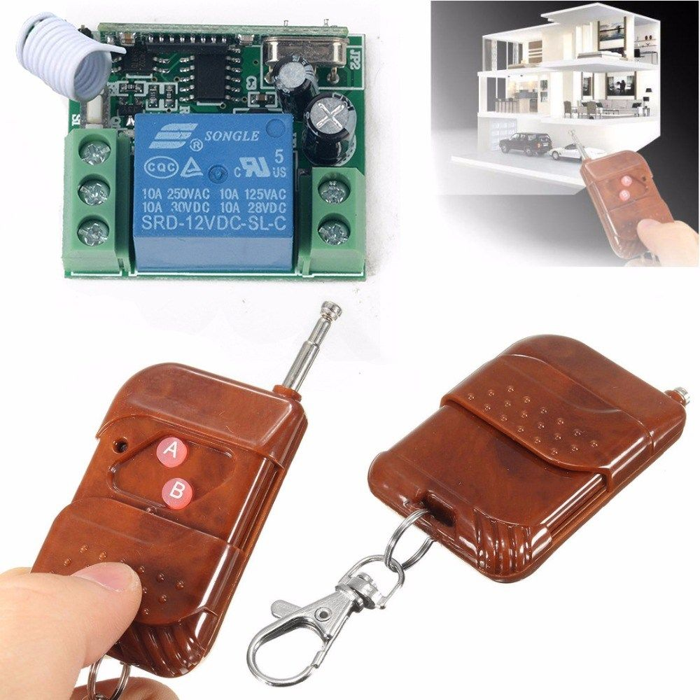 Dc 12v 1 Channel Wireless Relay Remote Control Switch Receiver