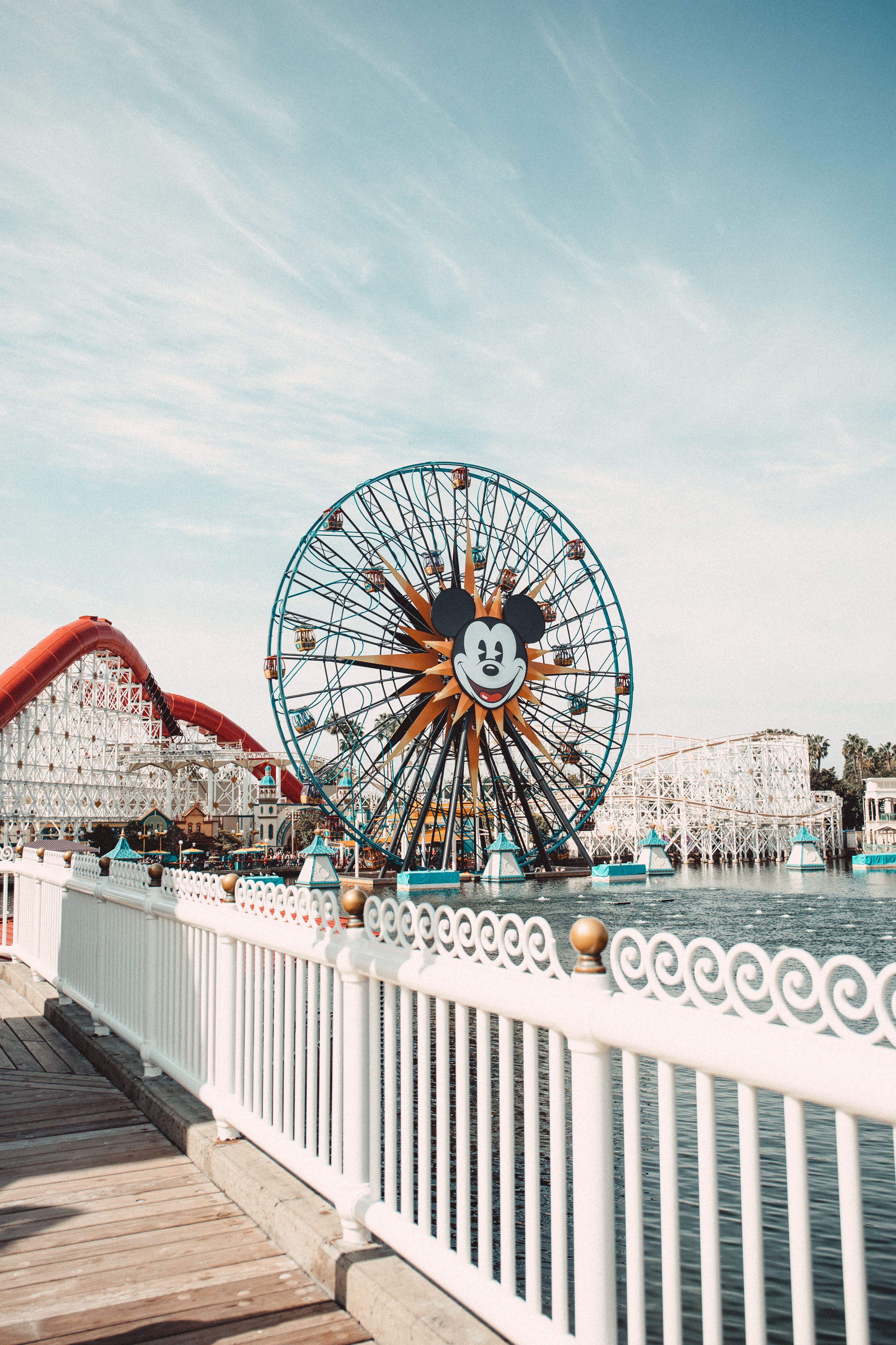 Pixar Pier Disney Pictures Cute Disney Pictures Disney Photography Fence ferris wheel 4k hd photography