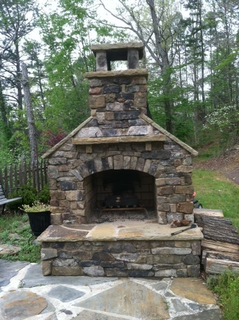 Outdoor Fireplaces and Pits | Daco Stone | outside fireplace | Pinterest | Fireplace kits
