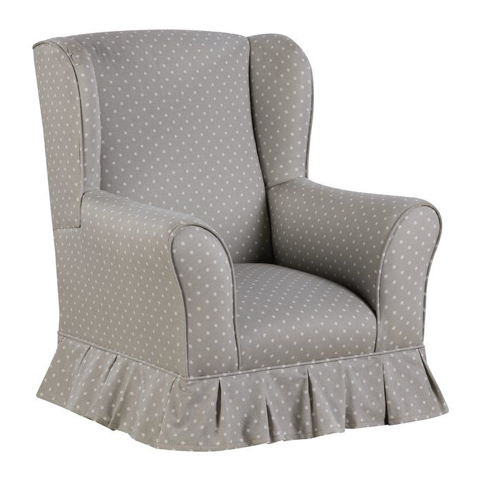 Evangelina Skirted Wing Kids Cotton Club Chair