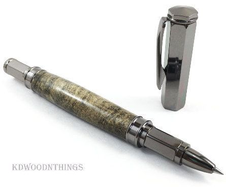 Handcrafted Buckeye Burl Rollerball Pen With Magnetic Cap / Executive Pen /  Mens Gift / Graduation