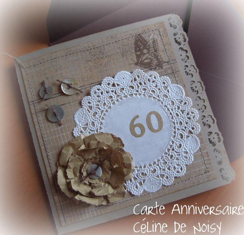 scrapbooking carte anniversaire femme 60 ans cartes sp ciales pinterest scrapbooking. Black Bedroom Furniture Sets. Home Design Ideas
