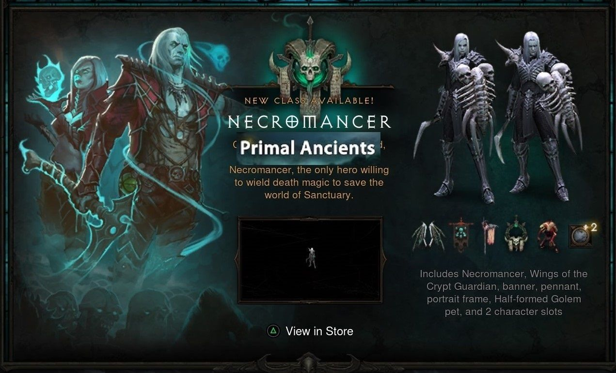 $8 - Diablo 3 Ros Ps4 All 4 Necromancer Primal Ancient