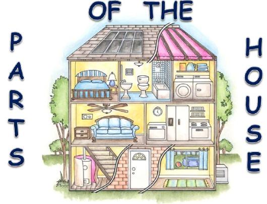 Parts of the house partes de la casa fichas en ingles infantil pinterest vocabulary - Partes de la casa en ingles para ninos ...