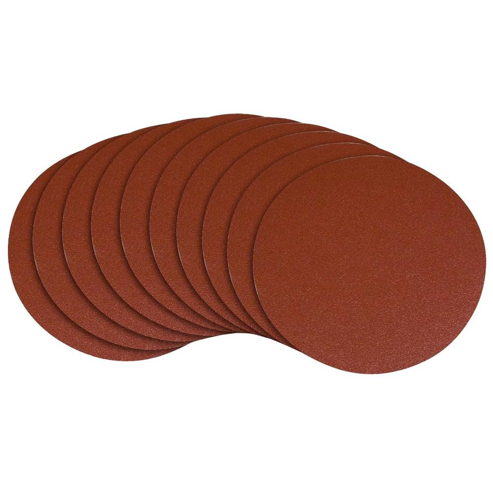 Powertec 12 In 150 Grit Psa Aluminum Oxide Self Stick Sanding Disc 10 Pack Power Tool Accessories Sanding Wood Metal Working