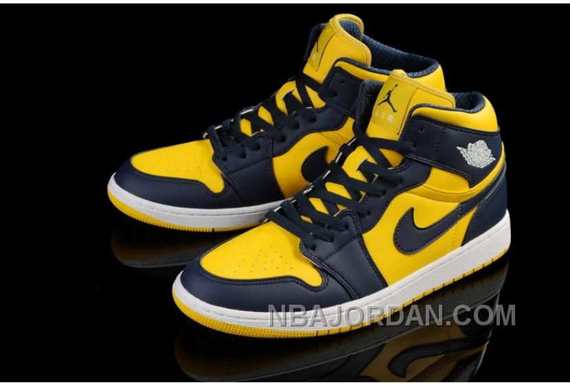 cf0fa1d6be9 Now Buy Air Jordan 1 Navy Blue Yellow Cheap To Buy Save Up From Outlet  Store at Footlocker.