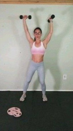 Challenge your abs with this standing abs workout  This belly pooch routine with weights will work y...