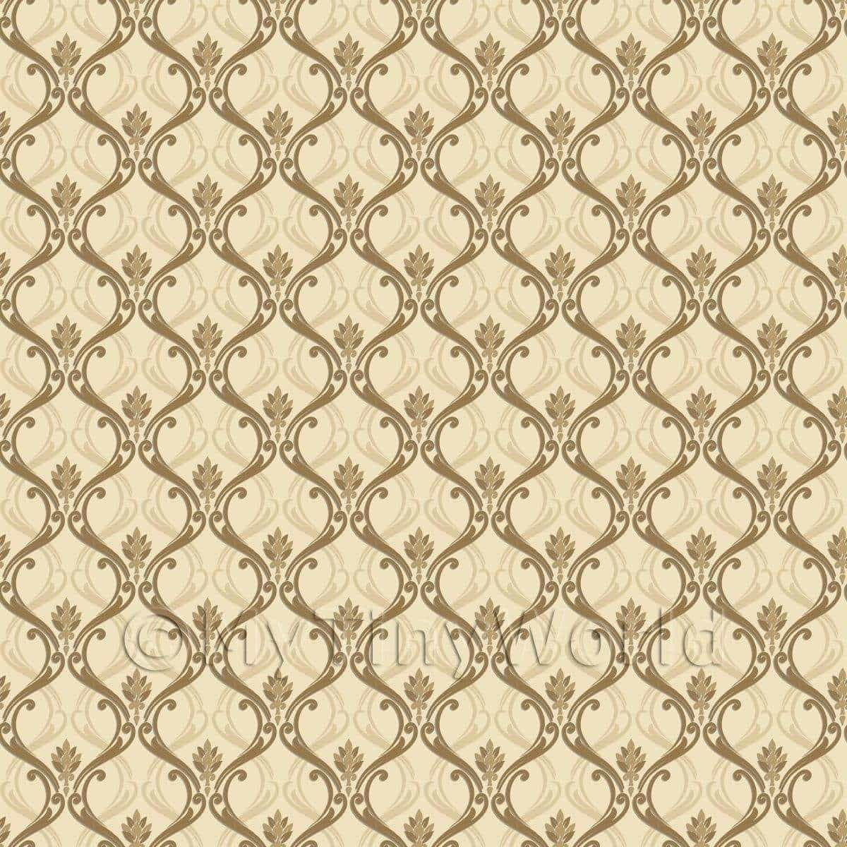 Dolls House Miniature Ink Blue Classic Wallpaper Design in Dolls & Bears,  Dolls' Miniatures & Houses, Wallpaper