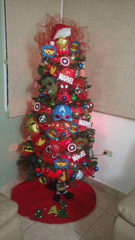 Super heroes Christmas tree. | Ugly Xmas Sweater Ideas (And I Do ...