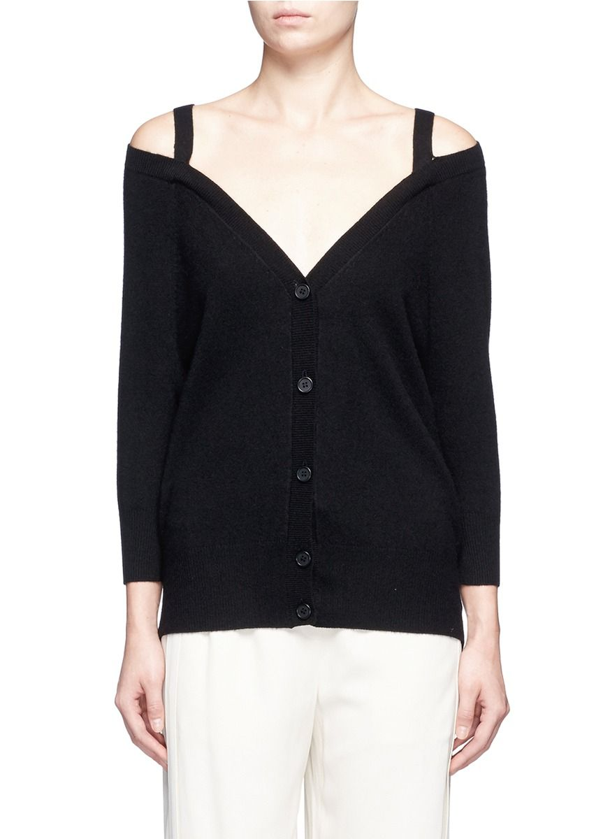 THEORY 'Saline B' Cold Shoulder Cashmere Cardigan. #theory #cloth ...